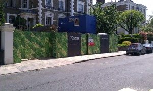 camouflage printed hoarding