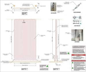 mural facade wrap calculation